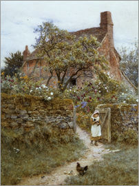 Helen Allingham - The Black Kitten