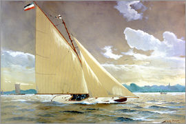 Willy Stöwer - The sailing boat Henny III.