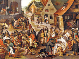 Pieter Brueghel d.J. - The Seven Acts of Mercy