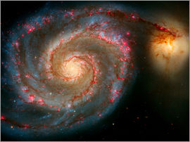 Don Hammond - The Whirlpool Galaxy (M51) And Companion Galaxy