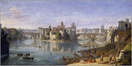 Gaspar van Wittel - The Tiber Island in Rome. 1685