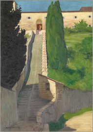 Felix Edouard Vallotton - The Steps of the Convent of San Marco, Perugia, 1913