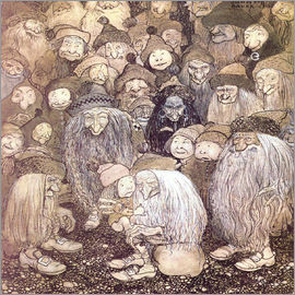 John Bauer - The trolls and the gnome boy