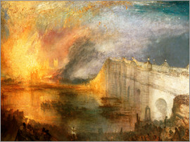 Joseph Mallord William Turner - The Burning of the Houses of Lords and Commons