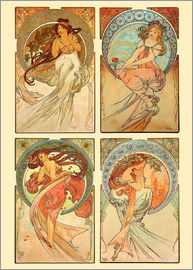 Alfons Mucha -  The four arts, collage