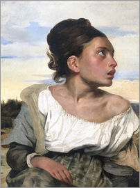 Eugene Delacroix - Orphan in the Cemetery