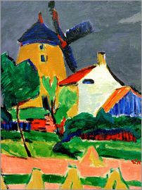 Ernst Ludwig Kirchner - The Windmill...