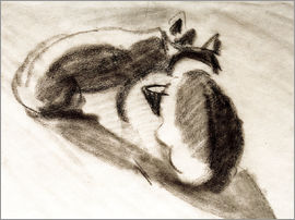 August Macke - The Cats of Franz Marc