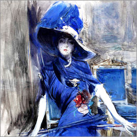 Giovanni Boldini - Diva in blue