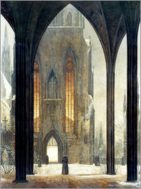 Ernst Ferdinand Oehme - Cathedral in Winter