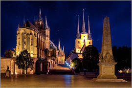 pixelliebe - Cathedral of Erfurt under the stars