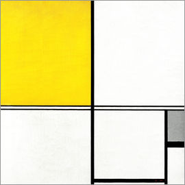Piet Mondrian - Double Line and Yellow