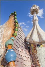 Neale Clarke - Dragon back roof of Casa Batllo