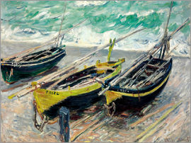 Claude Monet - Three fishing boats