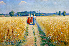 Kasimir Sewerinowitsch  Malewitsch - Three women on a path