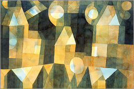 Paul Klee - Three Houses and a Bridge, 1922