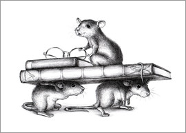 Stefan Kahlhammer - Three Rats (three avid readers)