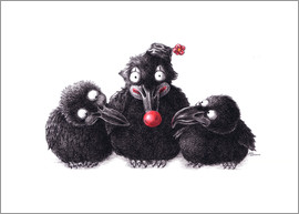 Stefan Kahlhammer - Three Ravens, One Clown