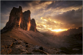 Christian Möhrle - Three Peaks Dolomites Sunset