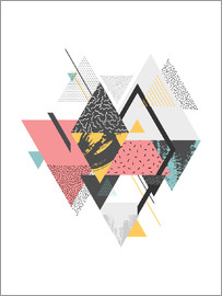 dear dear - Triangle Geometric Abstract for office and home