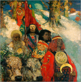 Edward Atkinson Hornel - Druids bringing in the Mistletoe