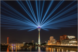 Michael Valjak - Dusseldorf light show at the Rhine tower for NRW Day 2016