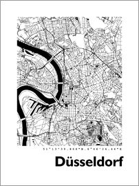 44spaces - Dusseldorf city map HF 44spaces