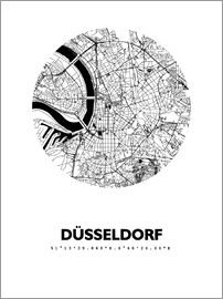 44spaces - Dusseldorf city map HFR 44spaces