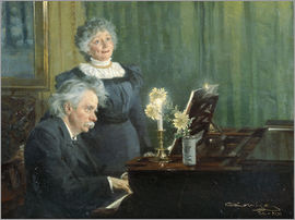 Peder Severin Kroyer - Edvad Grieg accompanies his wife at the piano