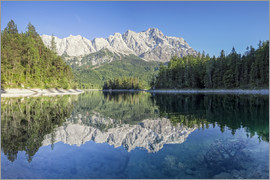 Dieter Meyrl - Lake Eibsee with Mount Zugspitze