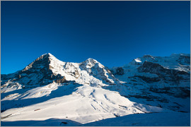 Peter Wey - Panoramic view from Lauberhorn with Eiger Mönch and Jungfrau mountain peak