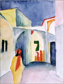 August Macke - A Glance Down an Alley