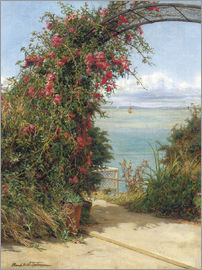 Frank Topham - A Garden by the Sea