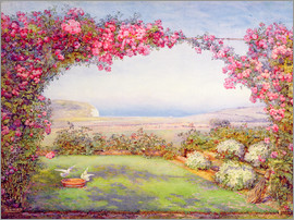 Edith Helena Adie - A garden with a rose arch
