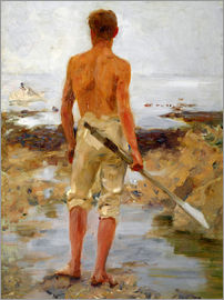 Henry Scott Tuke - A Boy with an Oar
