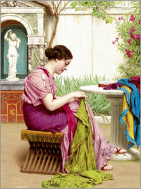 John William Godward - A stitch in time