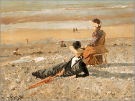 Alfred Stevens - A beautiful day in Le Tréport