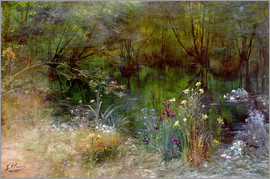 Georges Jules Victor Clairin - A lake with Naiads