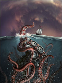Jerry LoFaro - A fantastical depiction of the legendary Kraken.