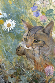 Bruno Andreas Liljefors - A Cat with a Young Bird in its Mouth