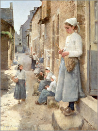 Stanhope Alexander Forbes - A Street in Brittany
