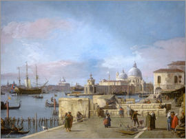 Antonio Canaletto - Entrance to the Grand Canal from the Molo