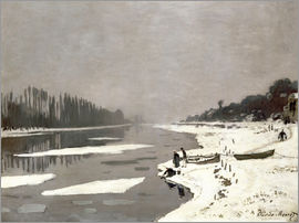 Claude Monet - Ice floes on the Seine at Bougival