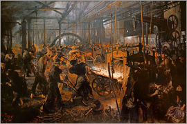 Adolph von Menzel - The Iron-Rolling Mill