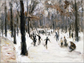 Max Liebermann - Skaters in Tiergarten park