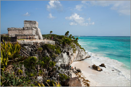 John Alexander - El Castillo at Tulum, Yucatan, Mexico, North America