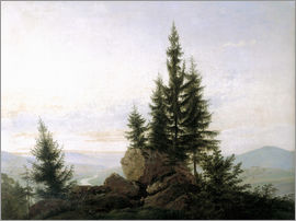 Caspar David Friedrich - View into the Elbe valley