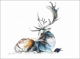 Mark Adlington - Elk with bird