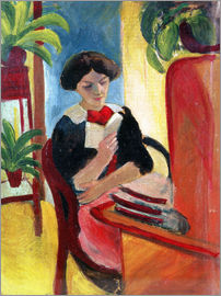 August Macke - Elizabeth Reading