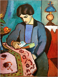 August Macke - Elizabeth, reading